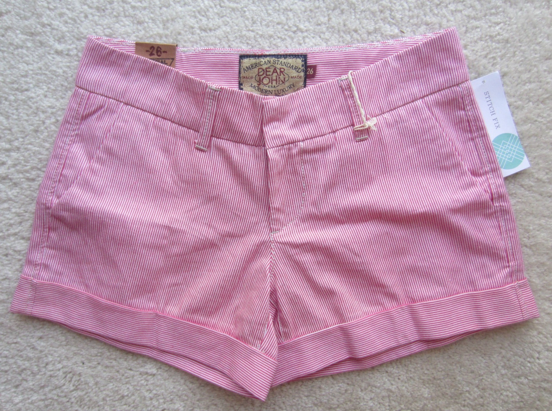 stitch fix dear john finnegan roll cuff chino short pink