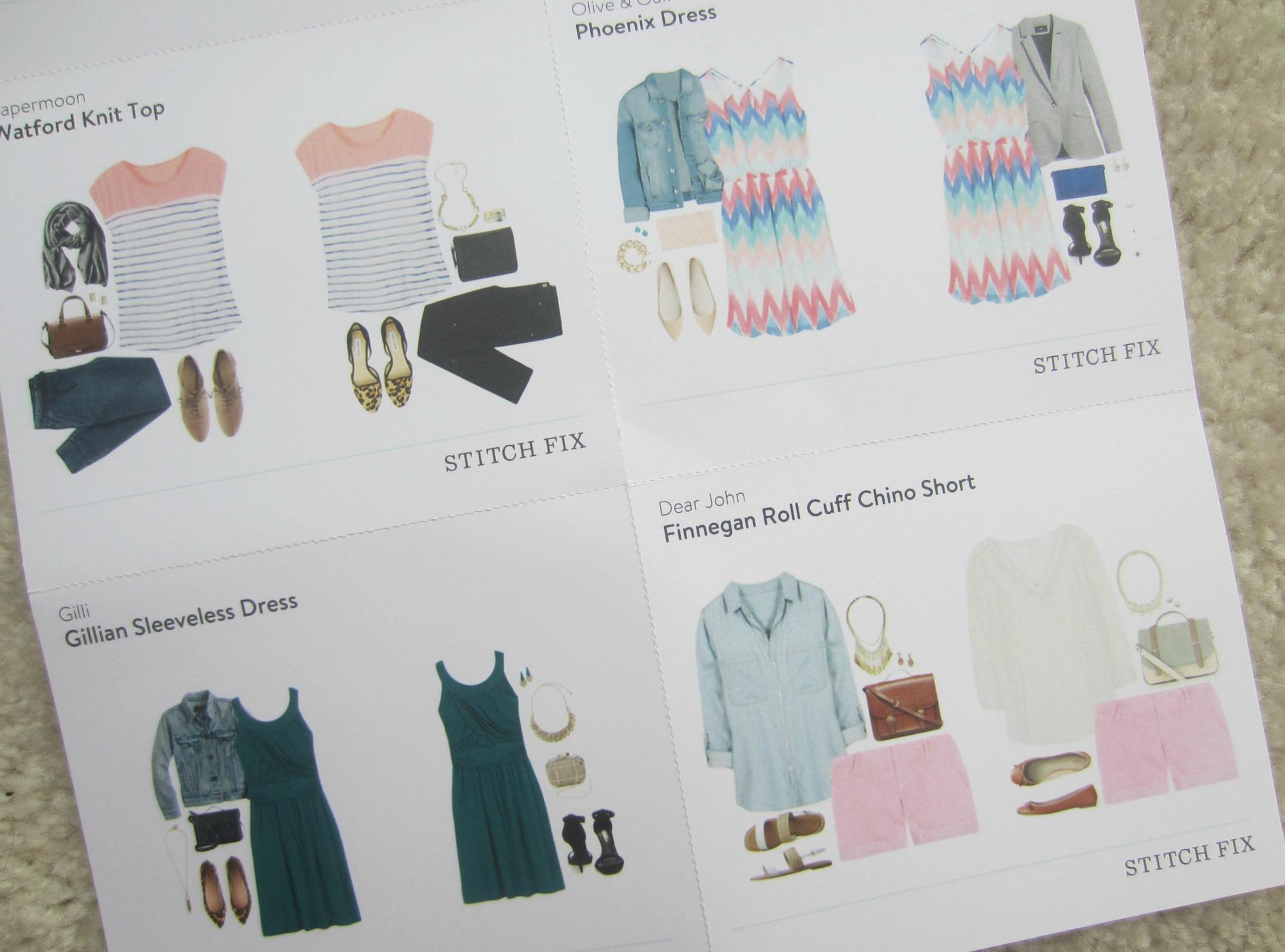 stitch fix styling fashion sheet
