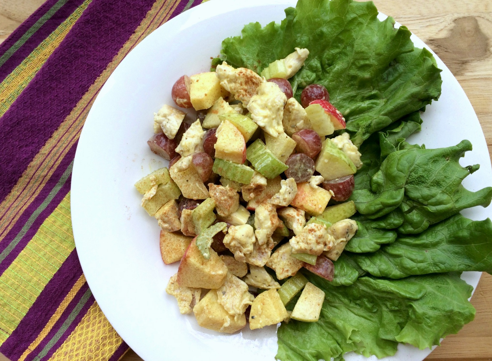 waldorf salad with homemade honey mustard dressing