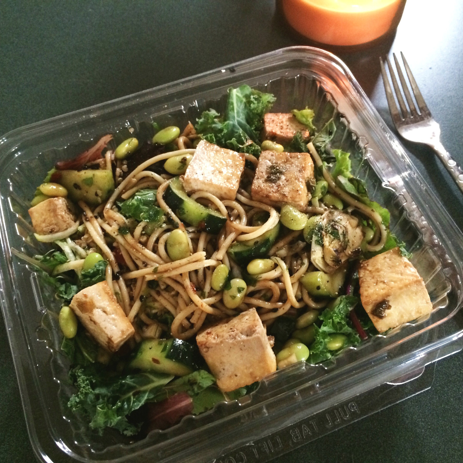 whole foods hot bar salad with tofu