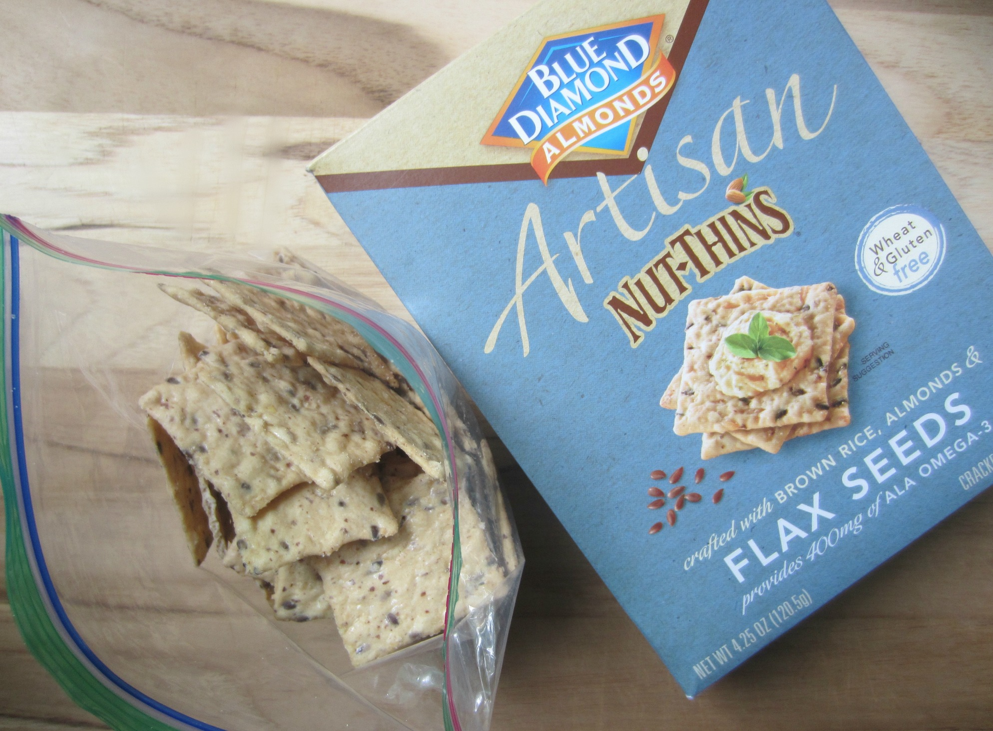 Blue Diamond Almonds Artisan Nut-Thins Flax Seeds