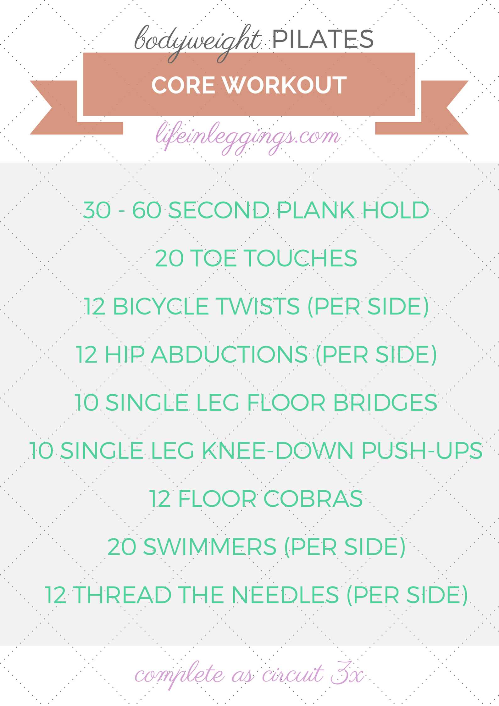 Bodyweight Pilates Core Workout