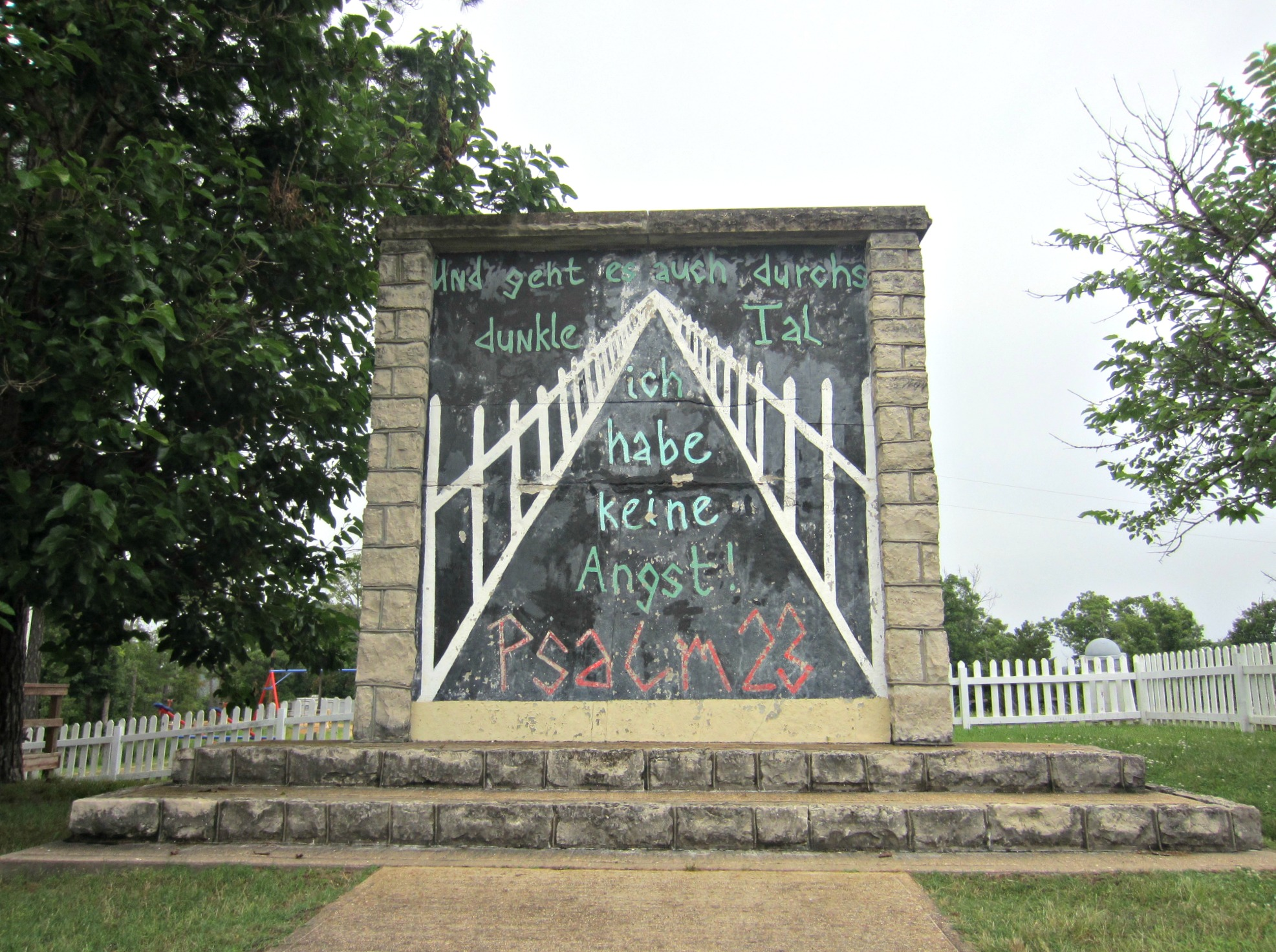 The Berlin Wall - Eureka Springs - Christ of the Ozarks Statue