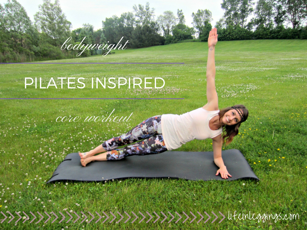 bodyweight pilates inspired core workout and exercise demonstrations