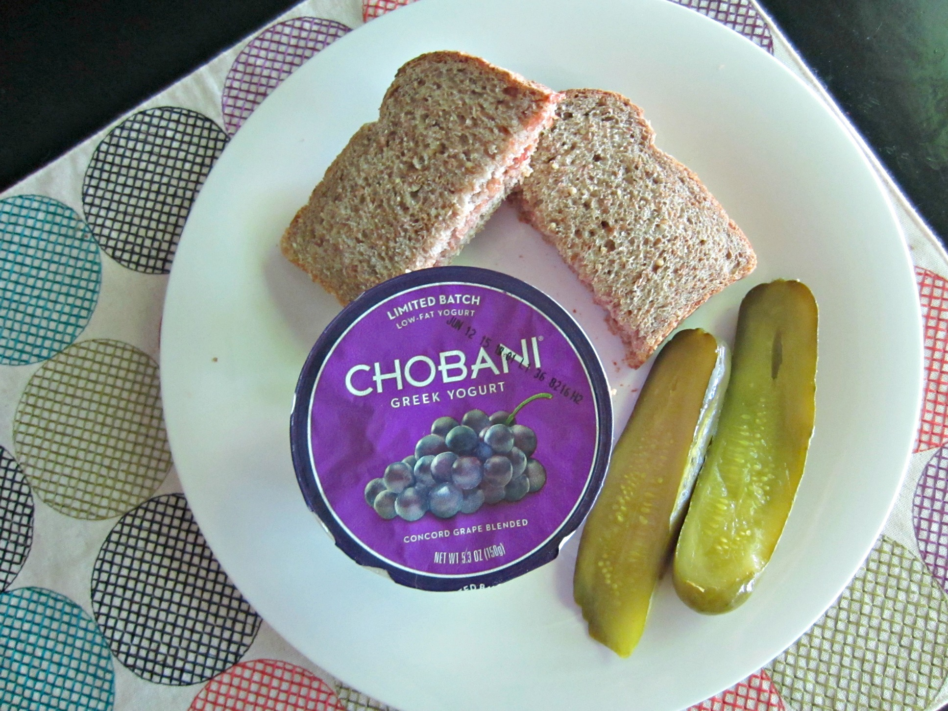 chobani grape yogurt