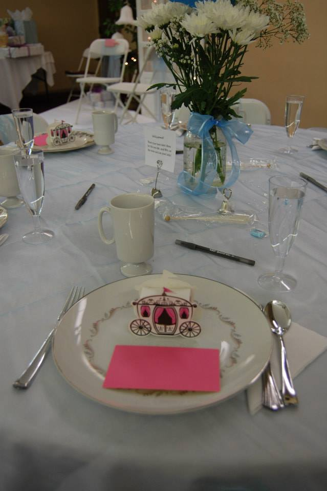 cinderella themed table setting