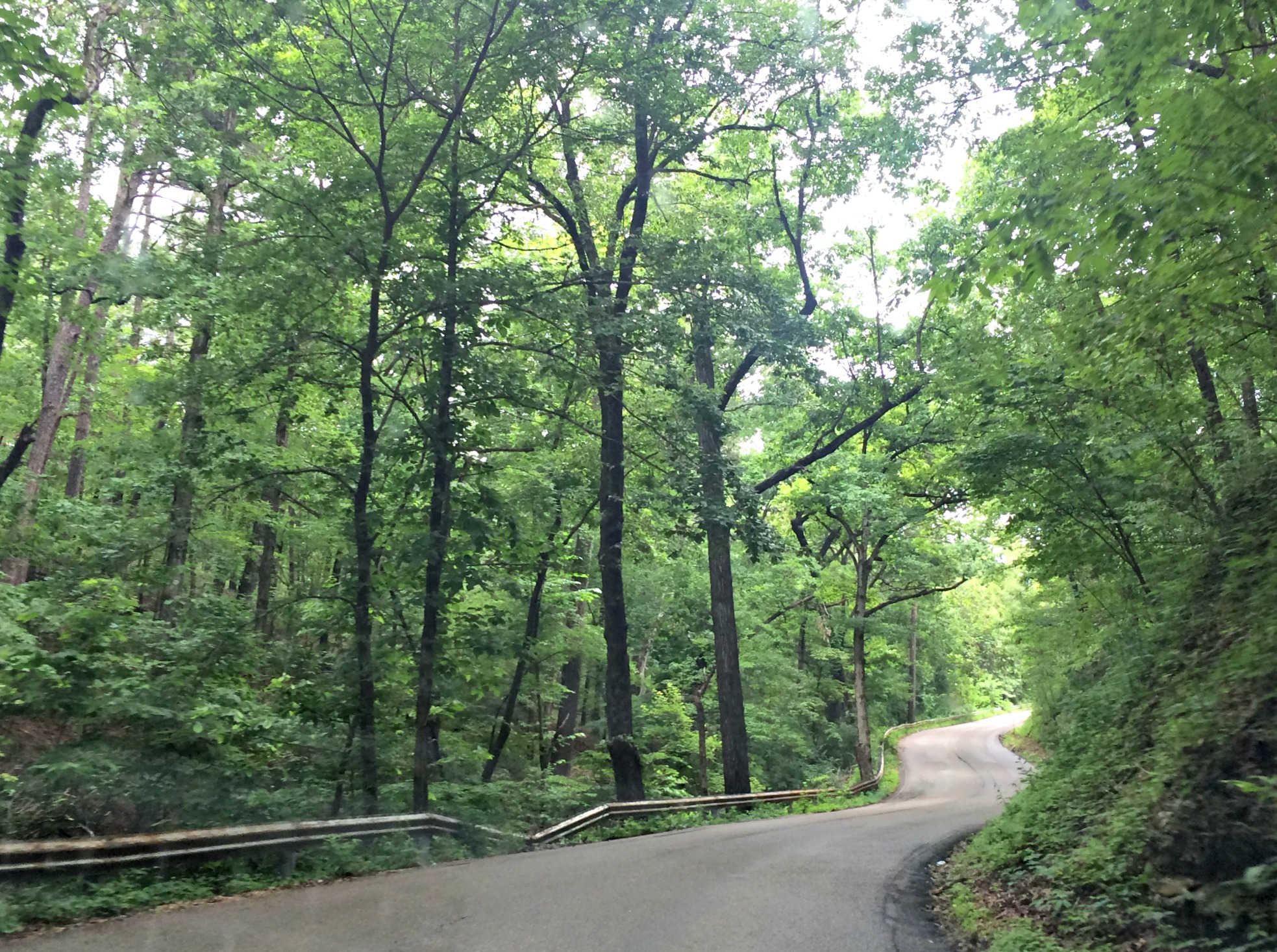 driving through Eureka Springs, AR