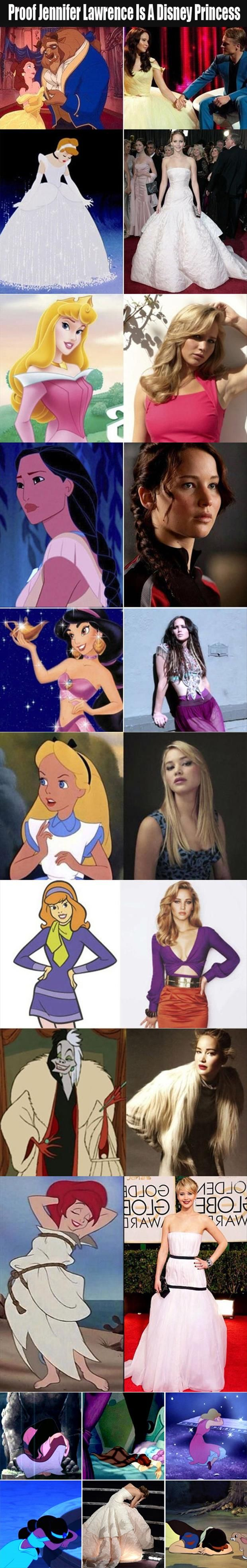 jennifer lawrence is a disney princess