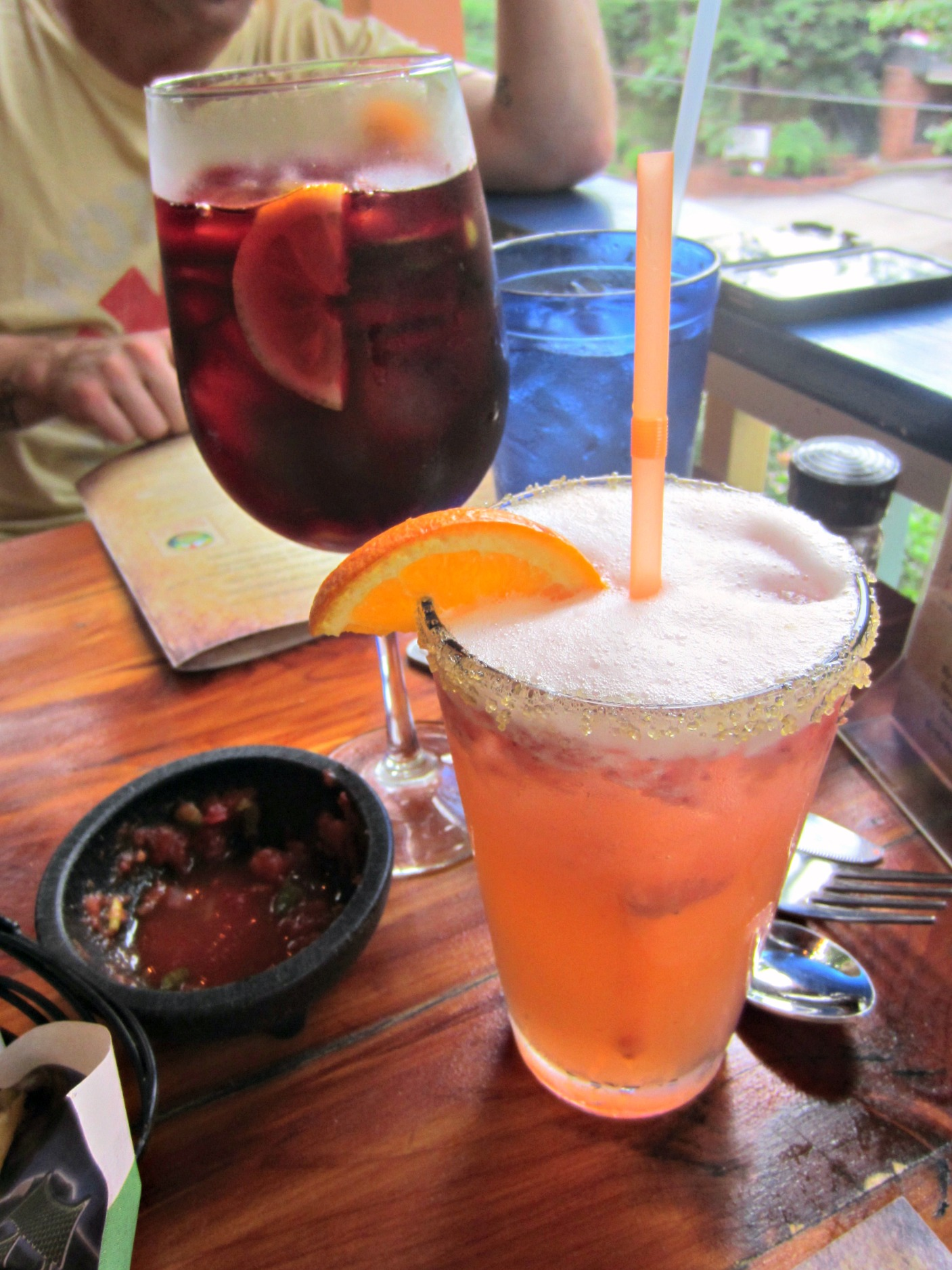 pepe's tacos strawberry margarita and sangria