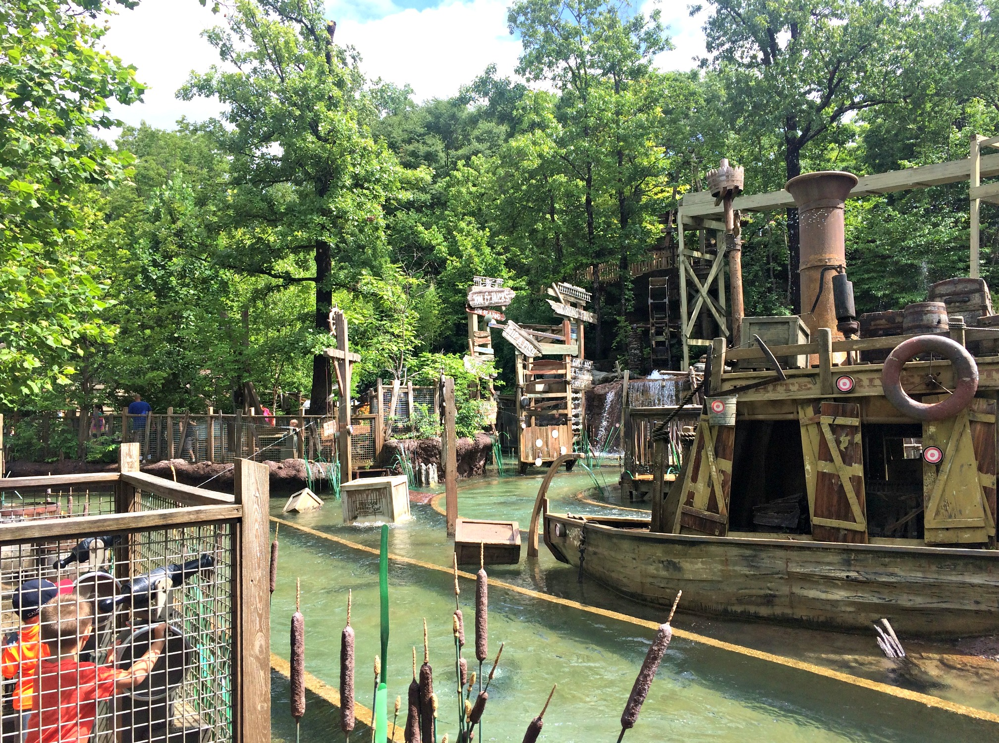 silver dollar city water gun boat ride