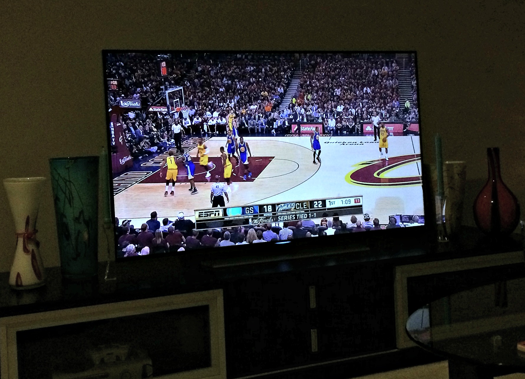 watching the NBA finals