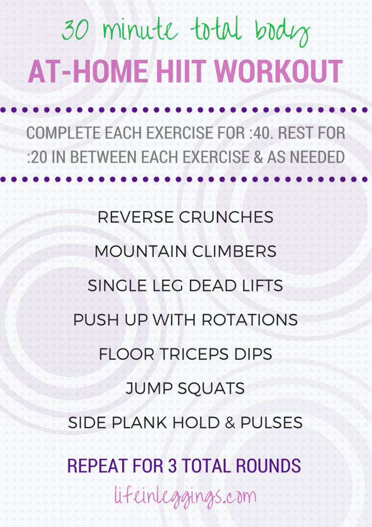 30 minute at-home hiit workout