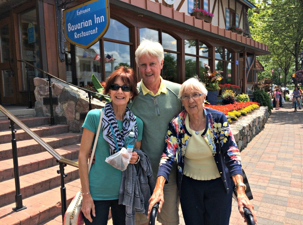 Bavarian Inn Frankenmuth with mom dad and grandma