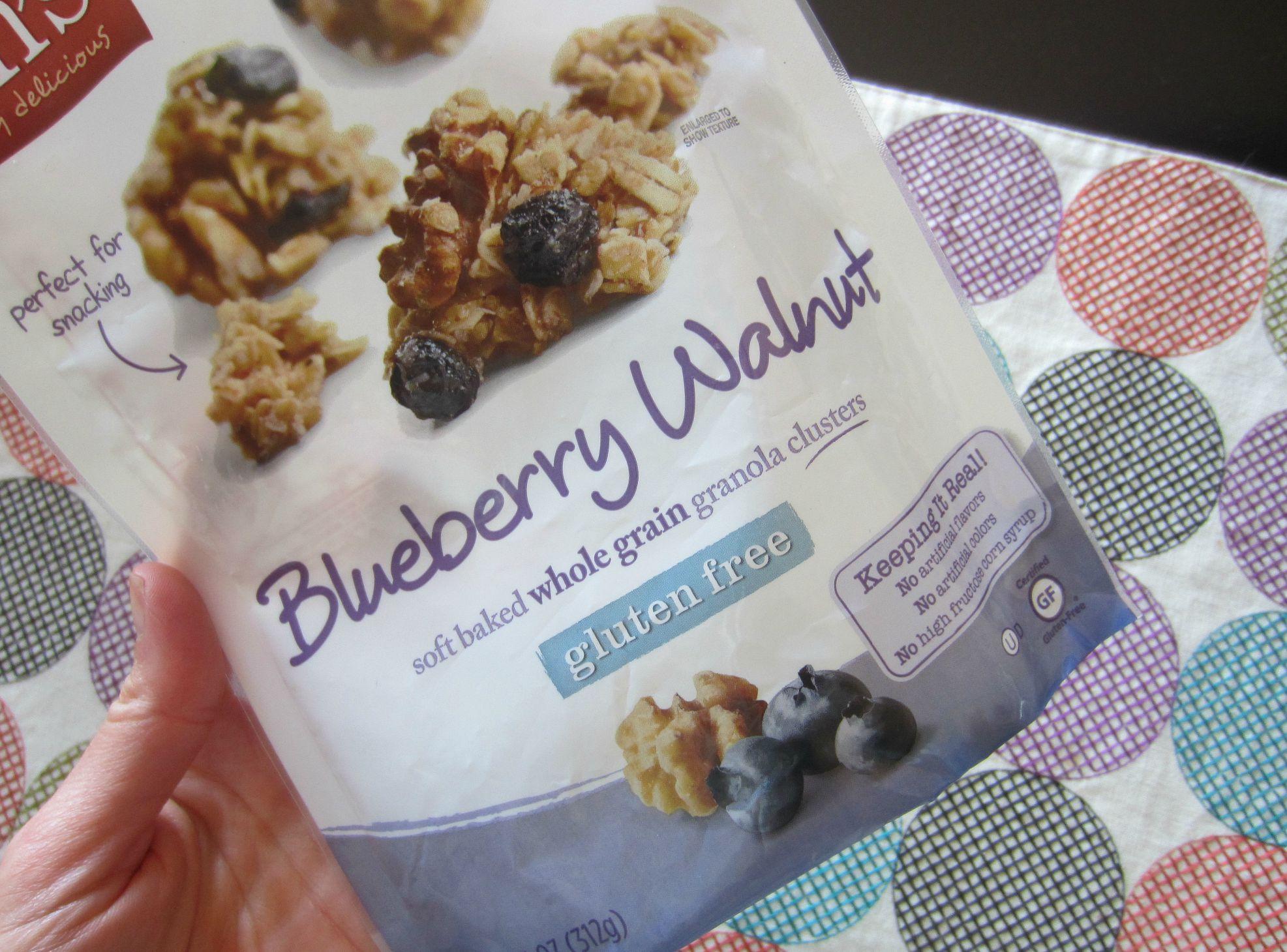 Blueberry Walnut gluten free granola vans