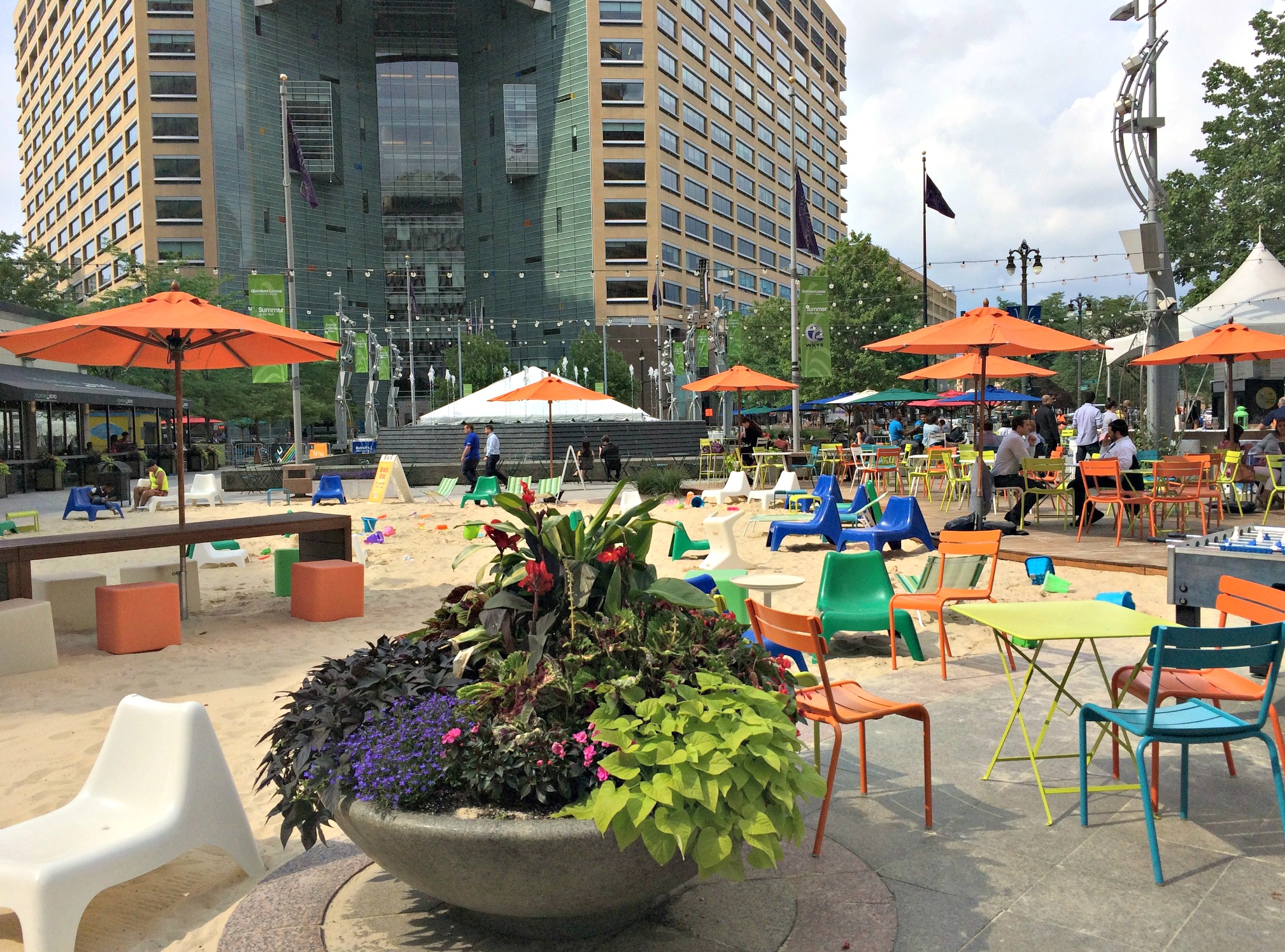 Campus Martius Park, Detroit's City Beach