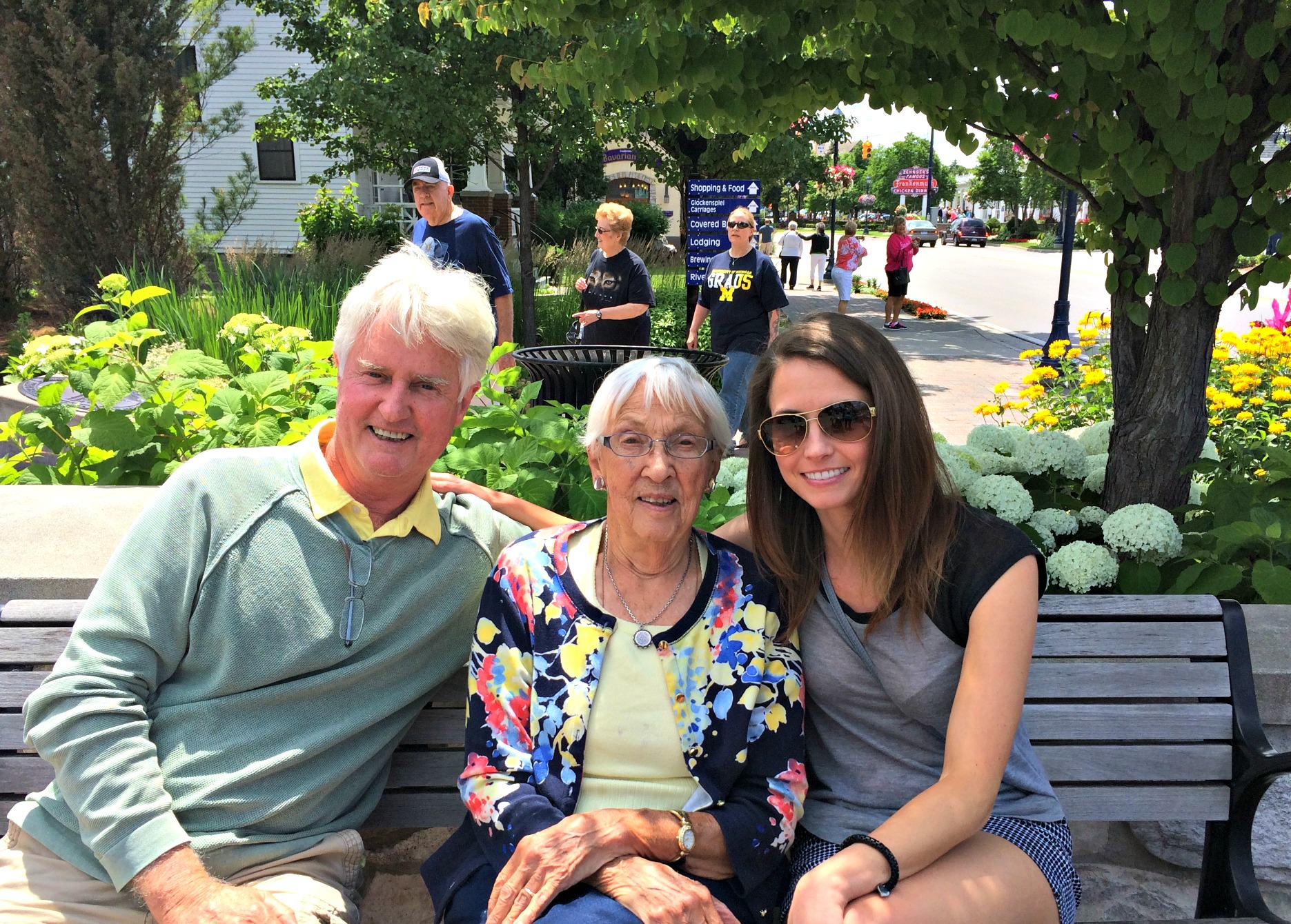 Frankenmuth with dad and grandma