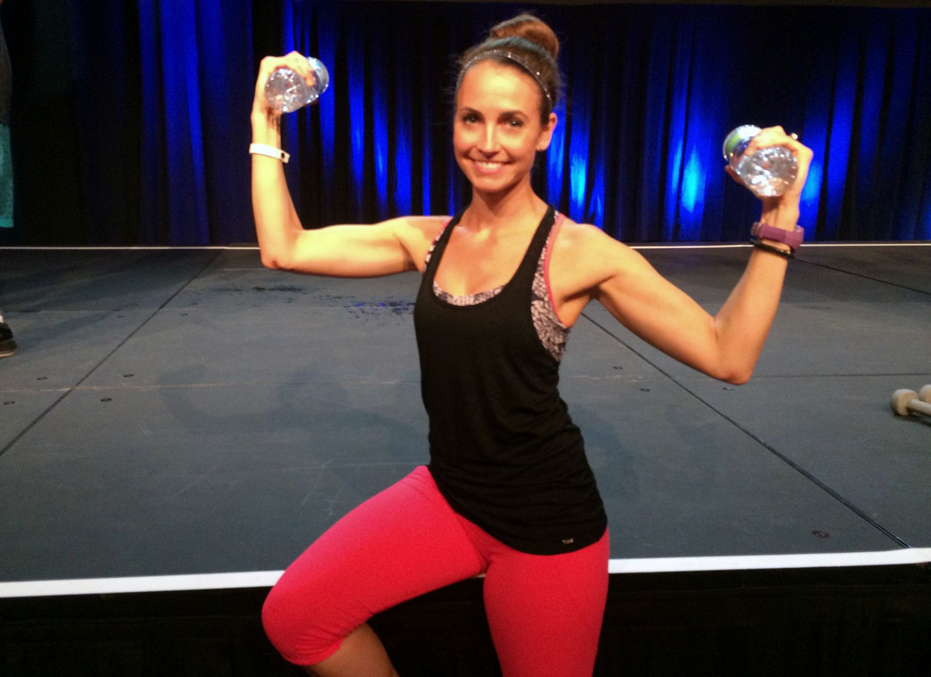 Heather at IDEA world fitness convention 2015