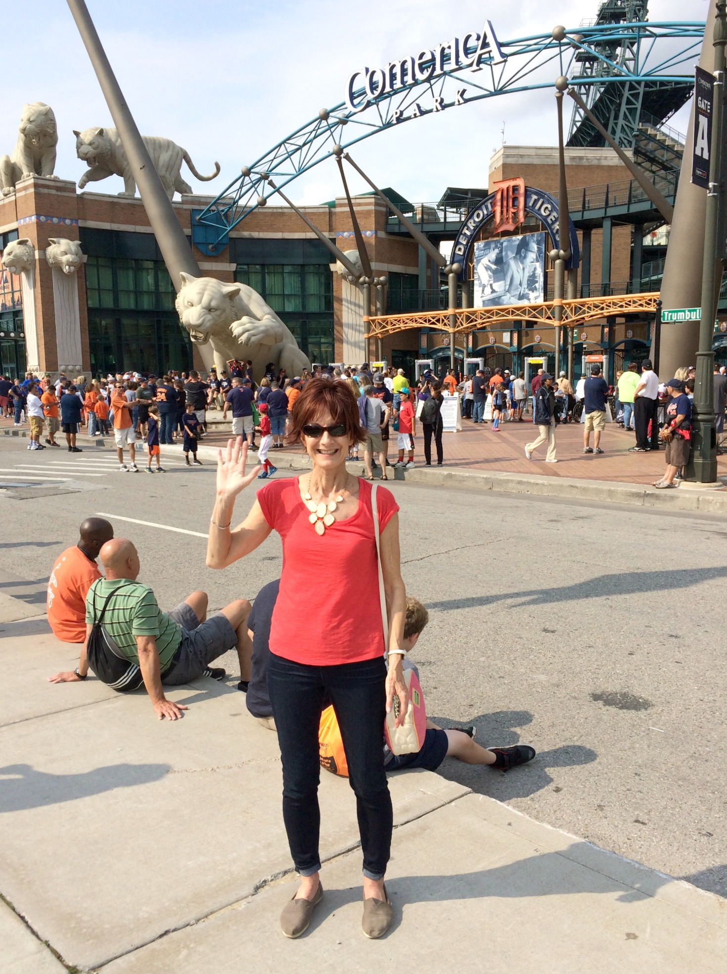 Mom at Comerica Park, Detroit