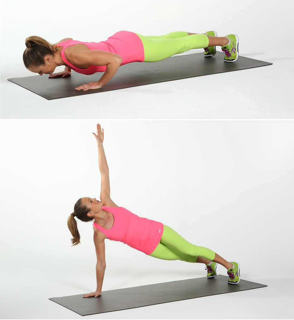 push up with rotation exercise