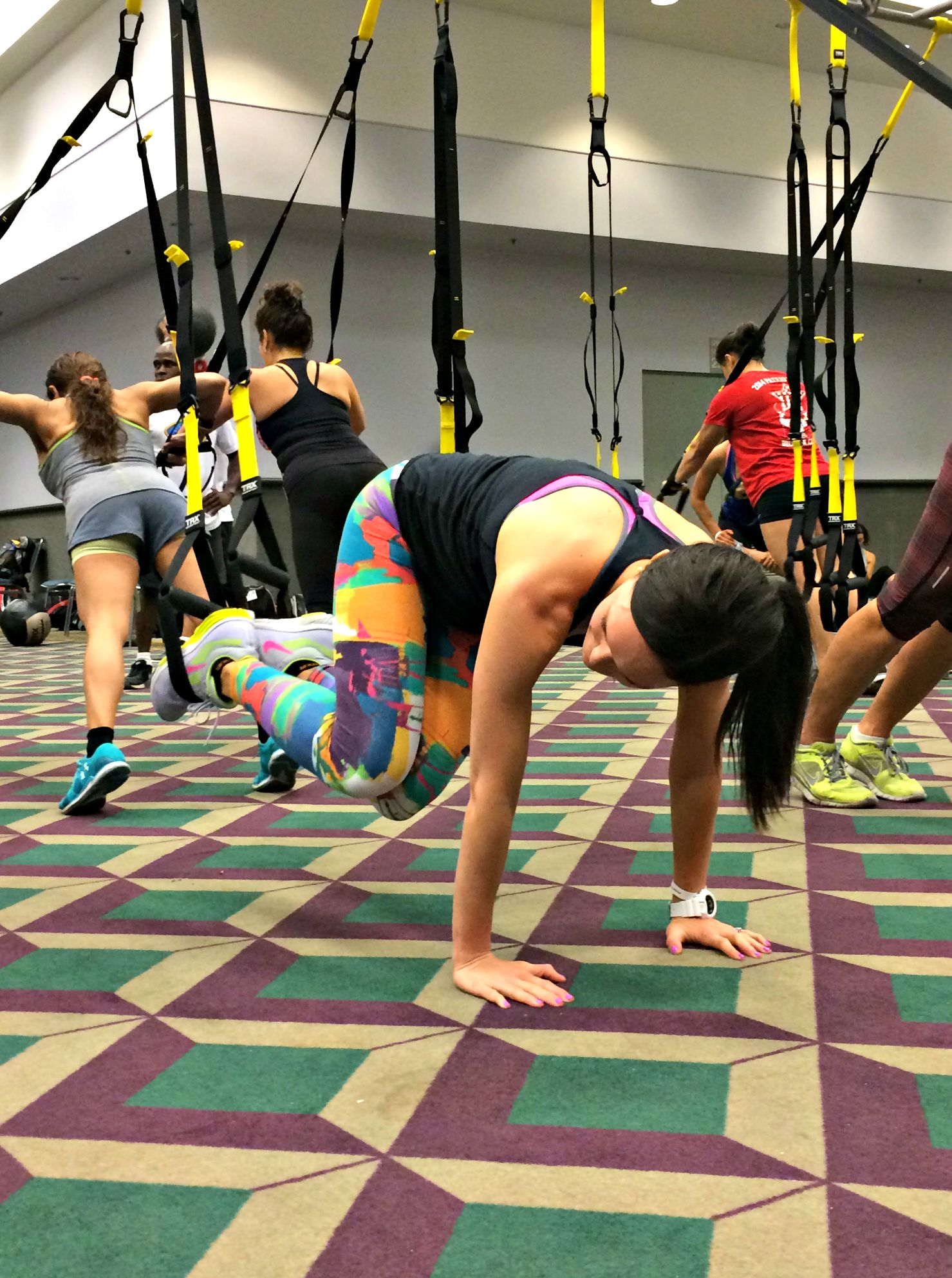 TRX oblique exercise