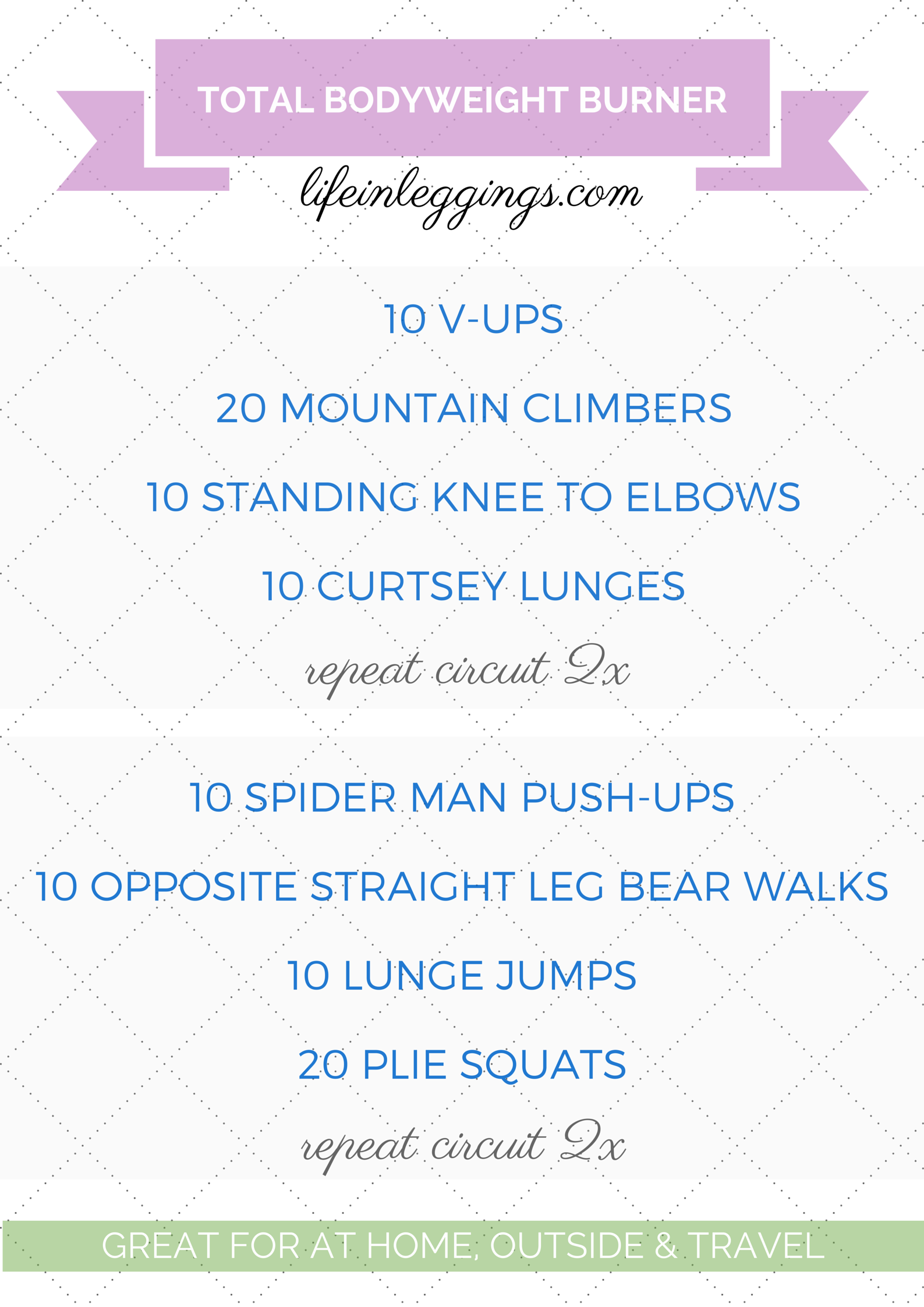 Total Bodyweight Burner Travel Workout