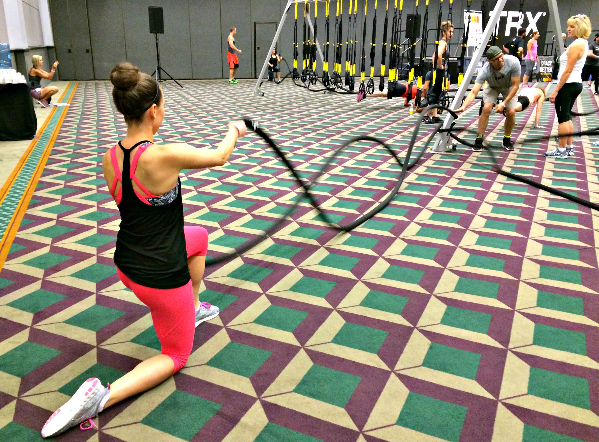 Training Ropes in TRX class