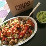 chipotle salad with chicken and veggies