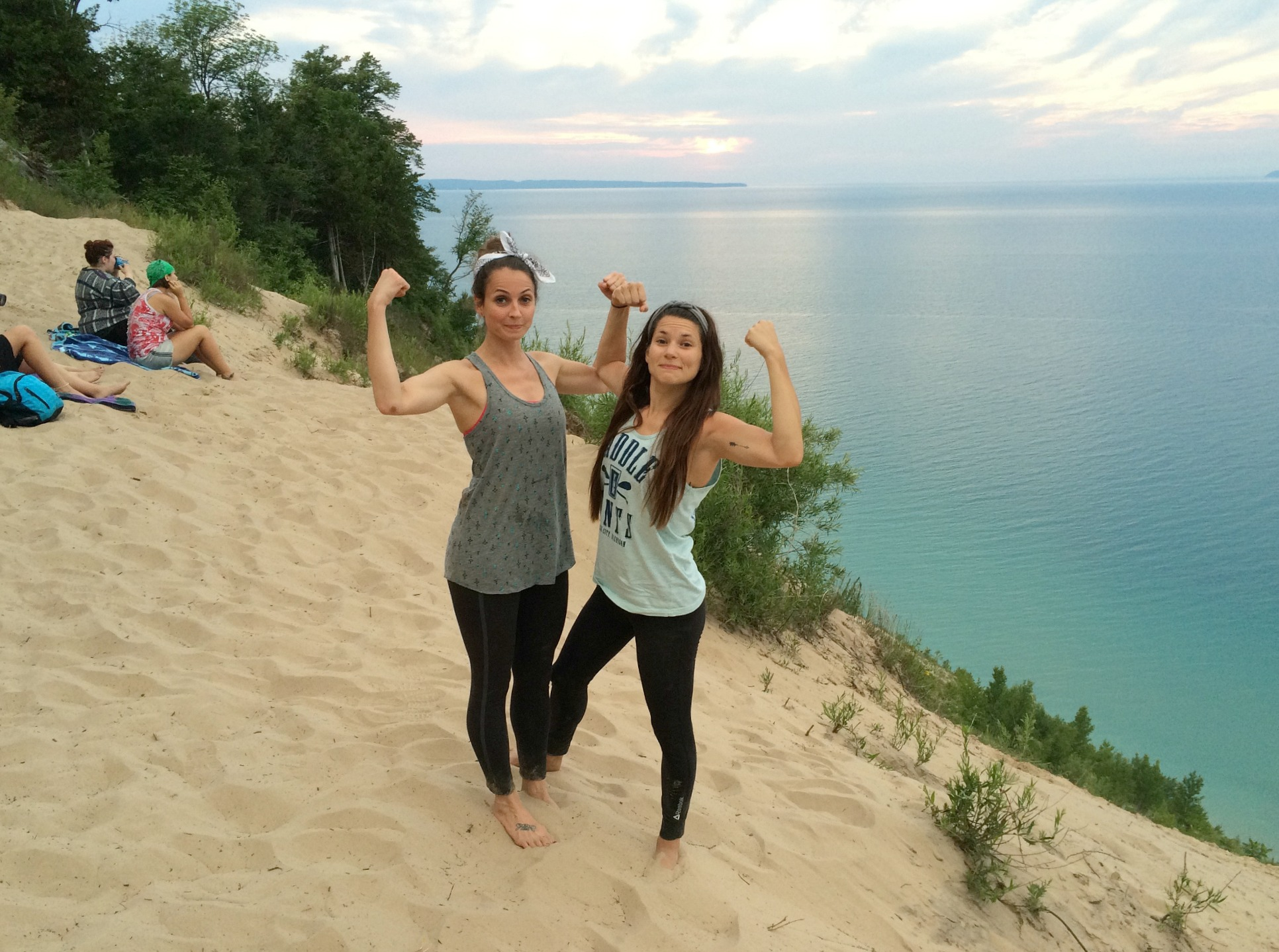 conquering pyramid point, lake michigan