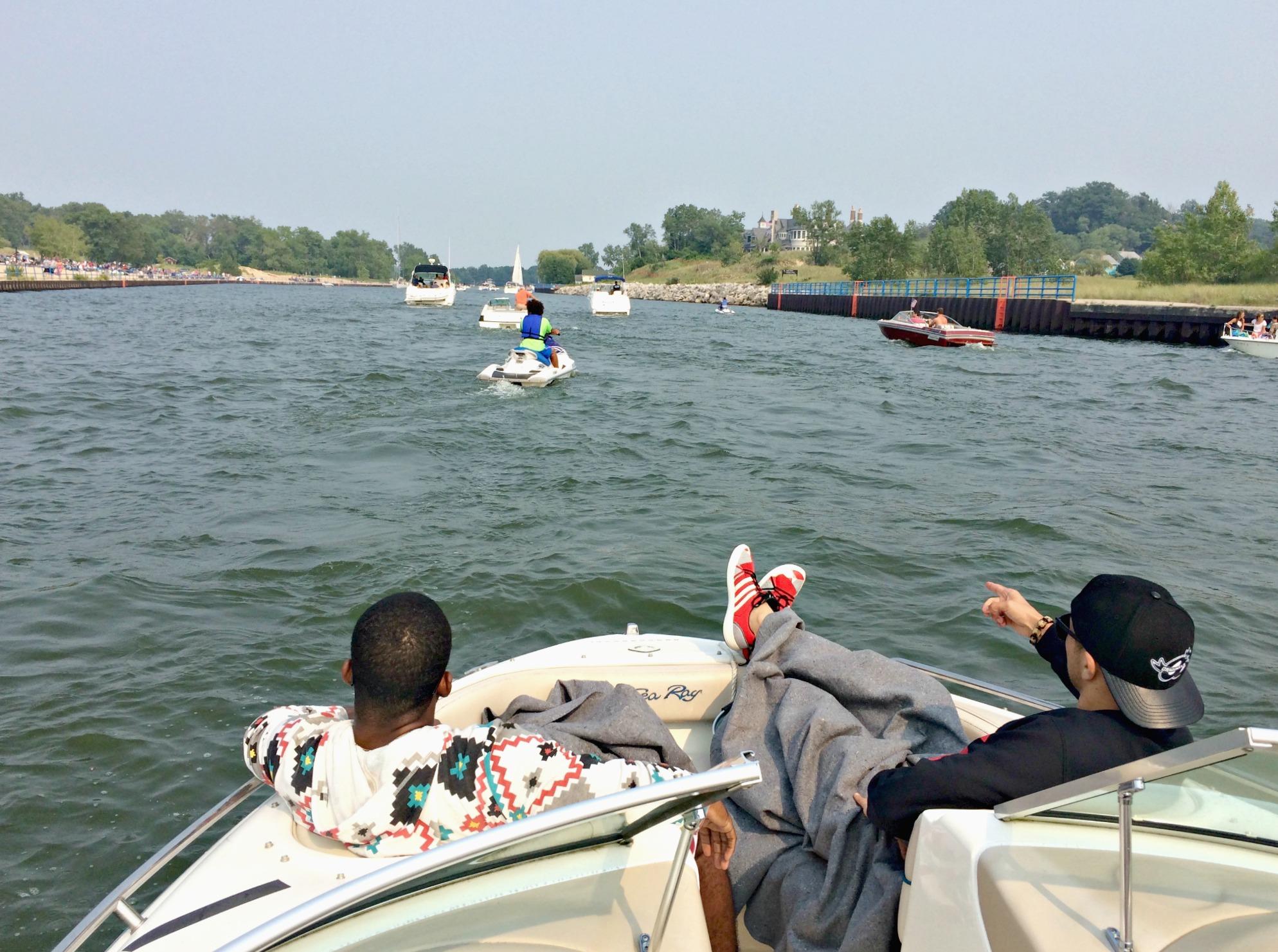 cruising lake michigan