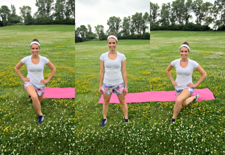 curtsey lunges exercise