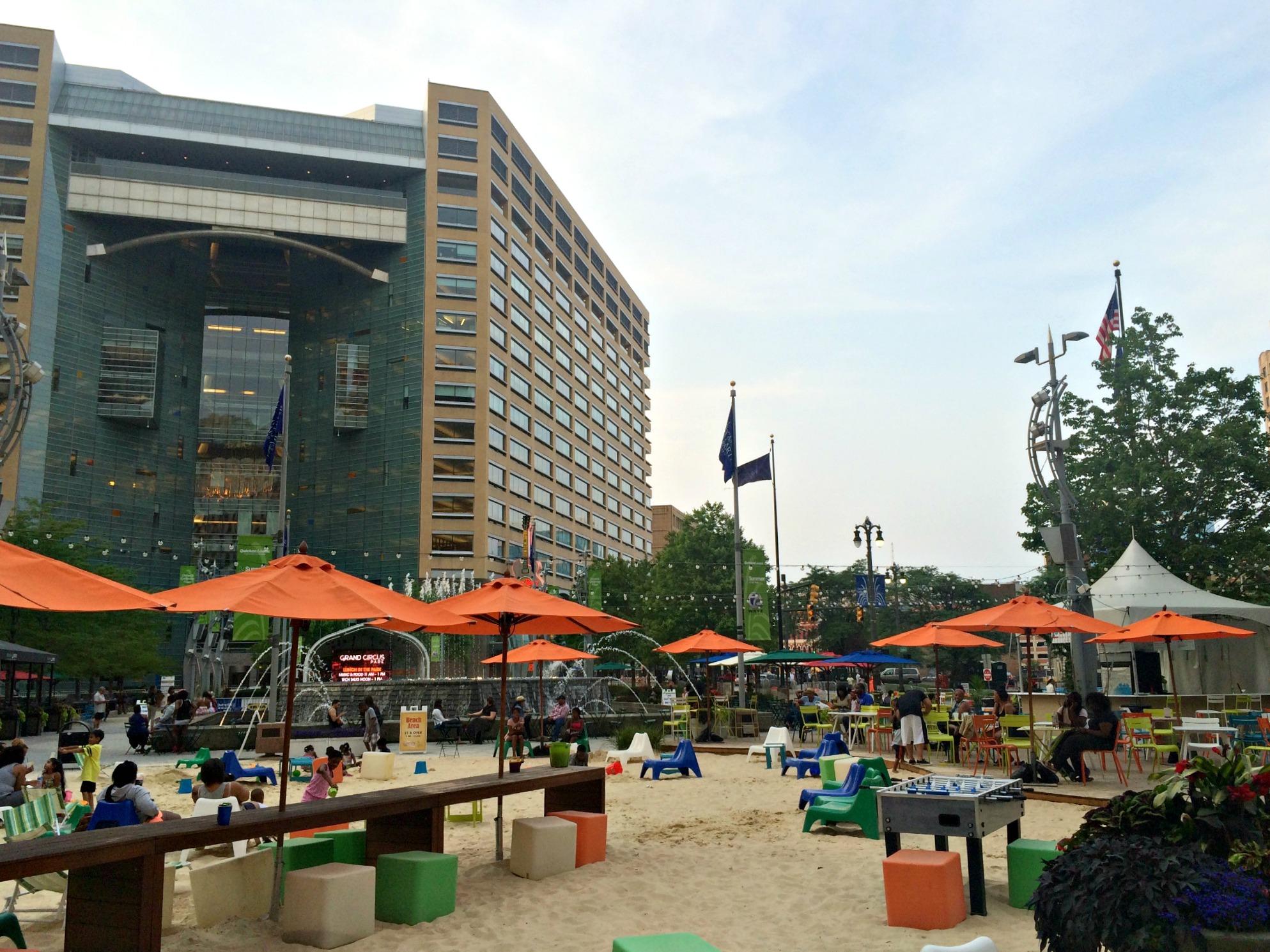 downtown detroit park