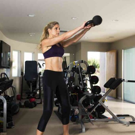 gabby reece in the gym