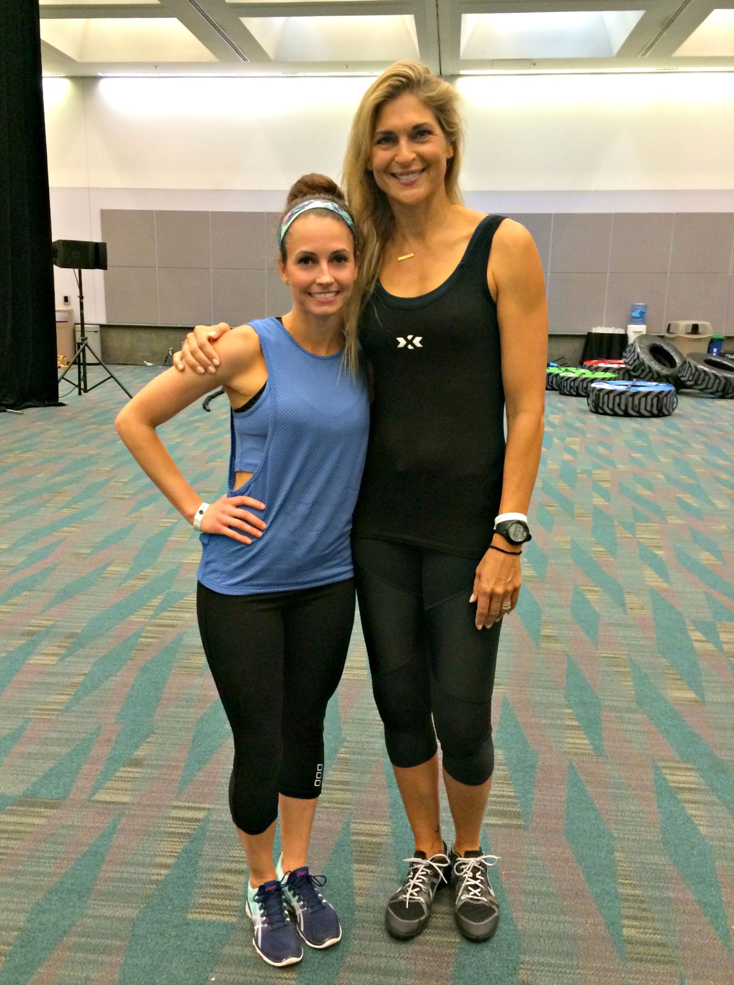 heather with Gabby Reece at IDEA
