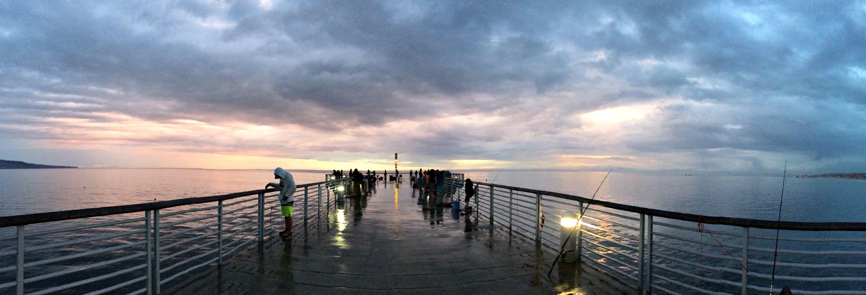 hermosa beach pier ocean view