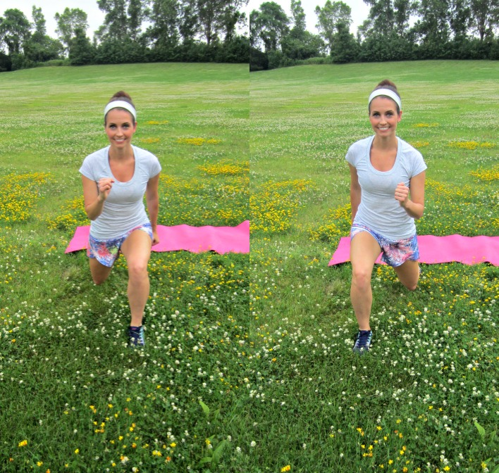 lunge jumps exercise