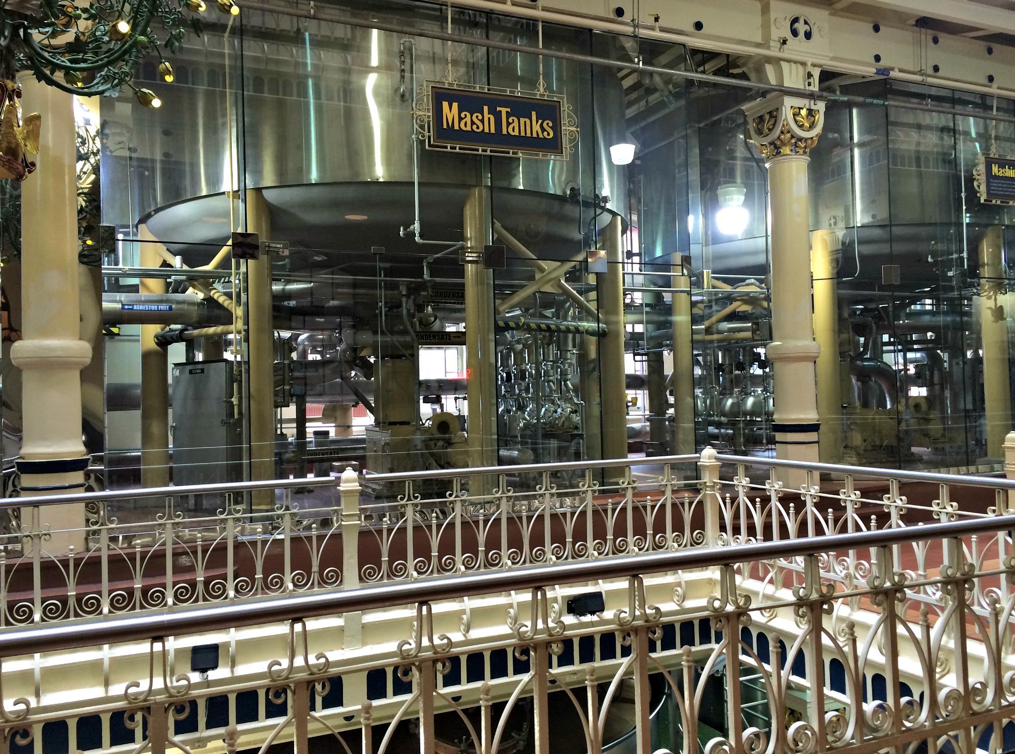 mash tanks at anheiser bush factory