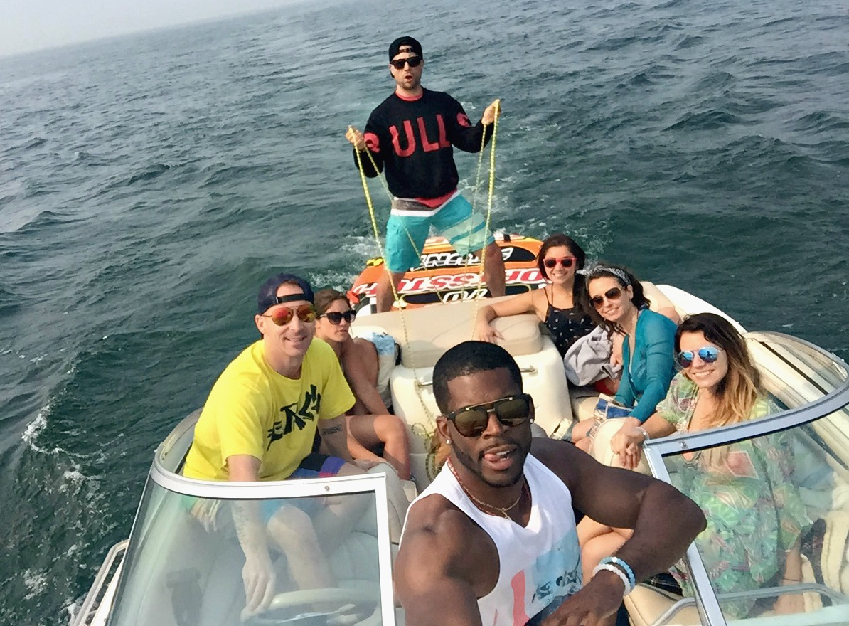 on the boat group