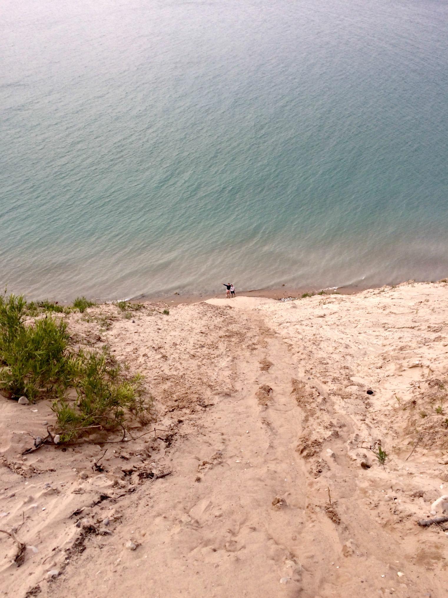 pyramid point beach - lake michigan scott and alex