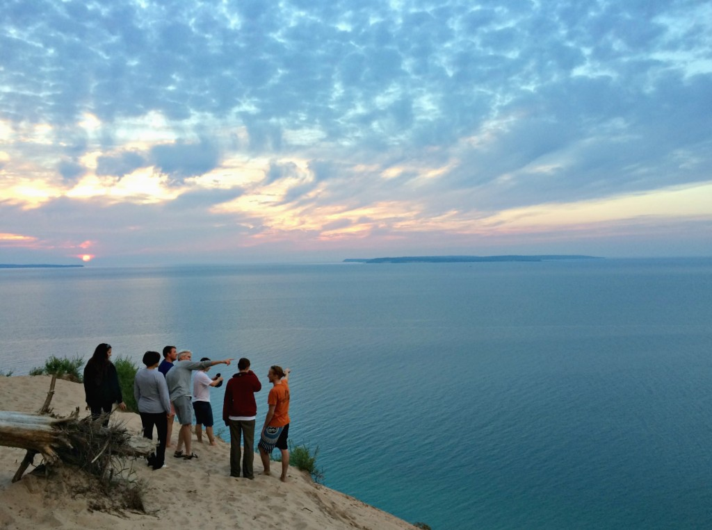 pyramid point overlook, michigan