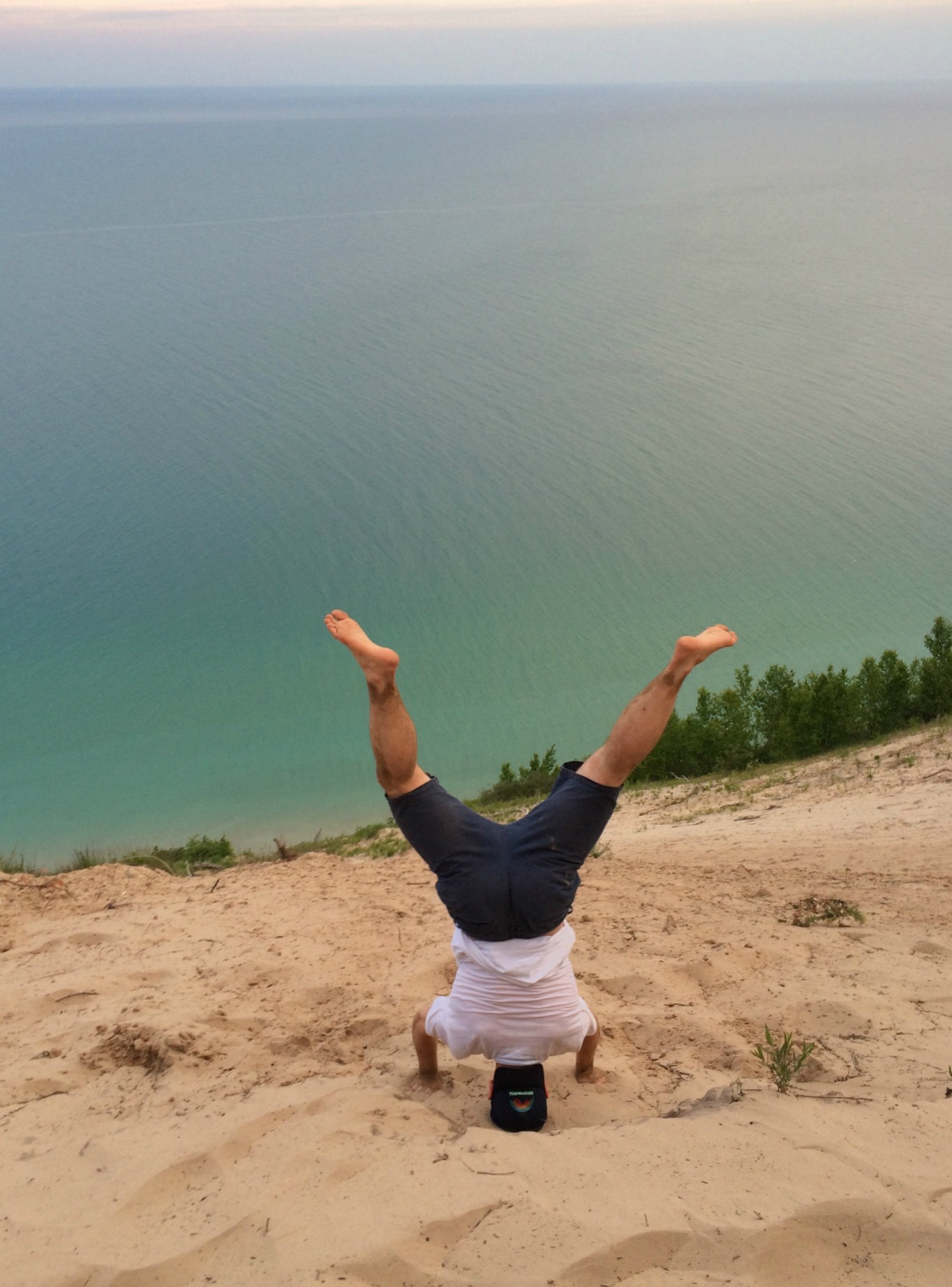 scott at pyramid point headstand