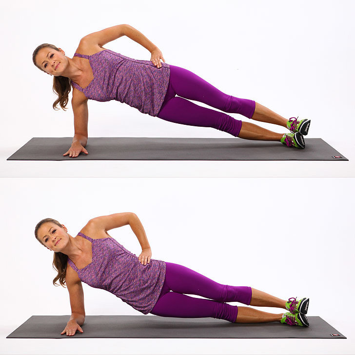 side plank elbow plank pulses
