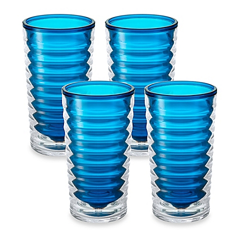 tall blue infusion glass entertainment set