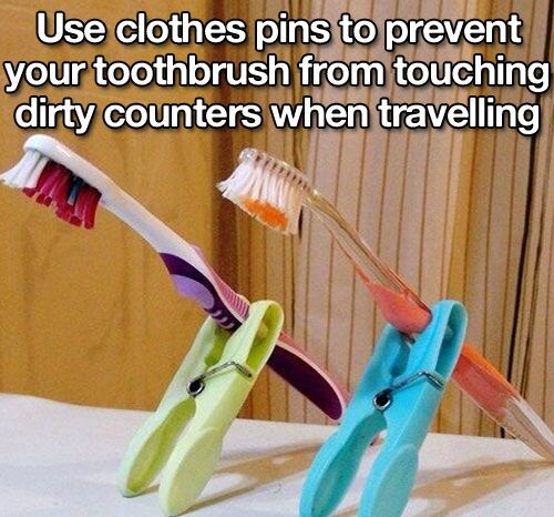 toothbrush travel hack