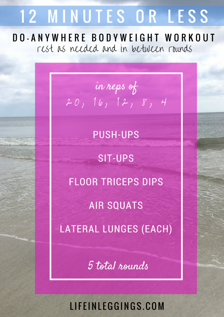 12 minutes or less do-anywhere bodyweight circuit workout