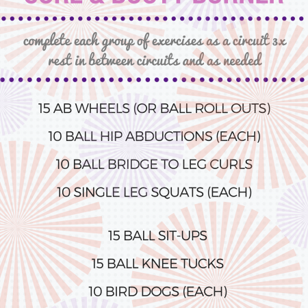 20 minute stability ball core and booty workout