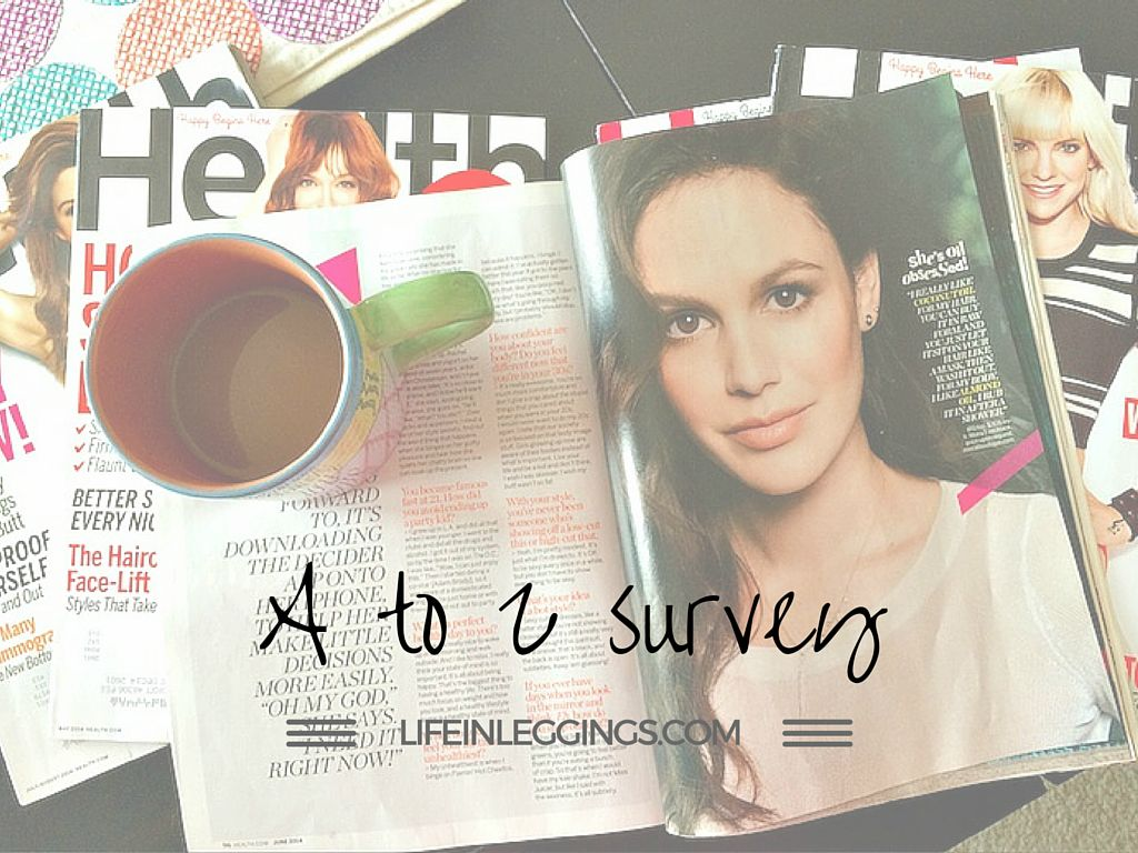A to Z blogger survey