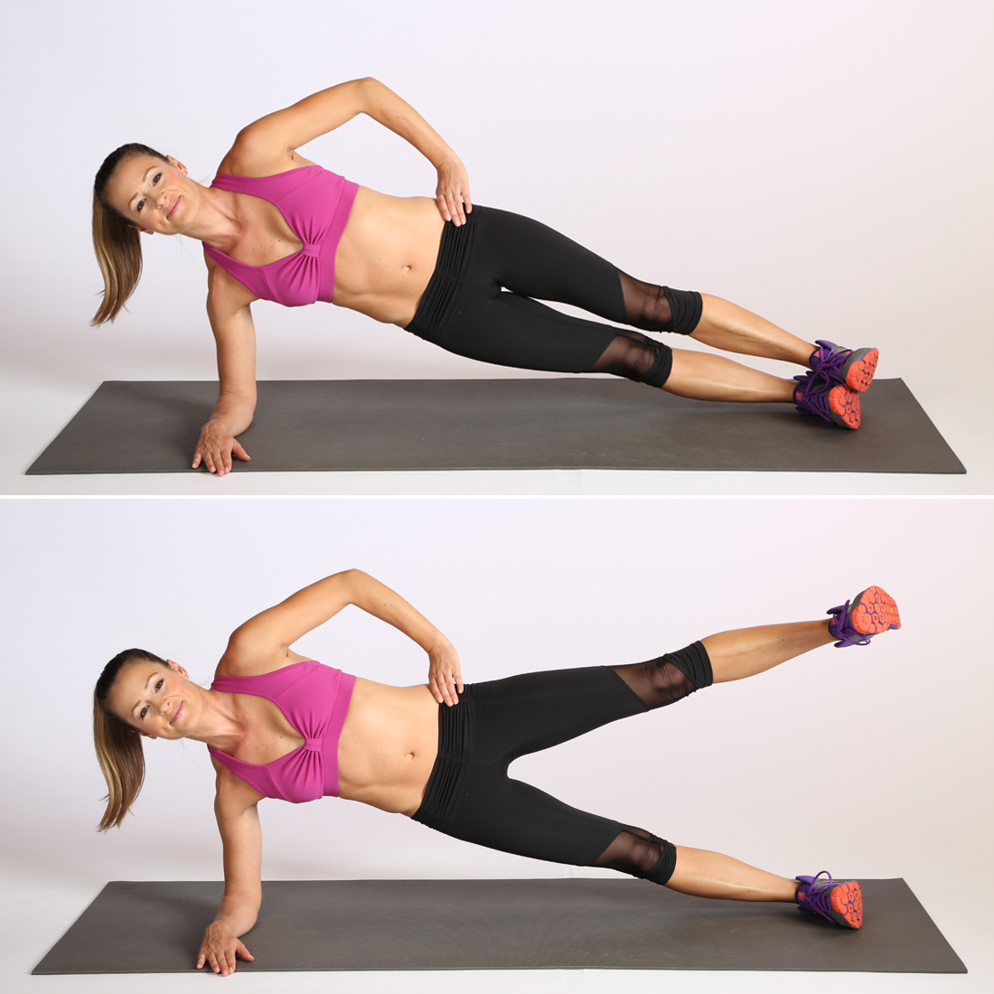 Circuit-Three-Side-Elbow-Plank-Leg-Lift popsugar