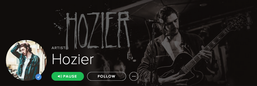 Hozier on spotify