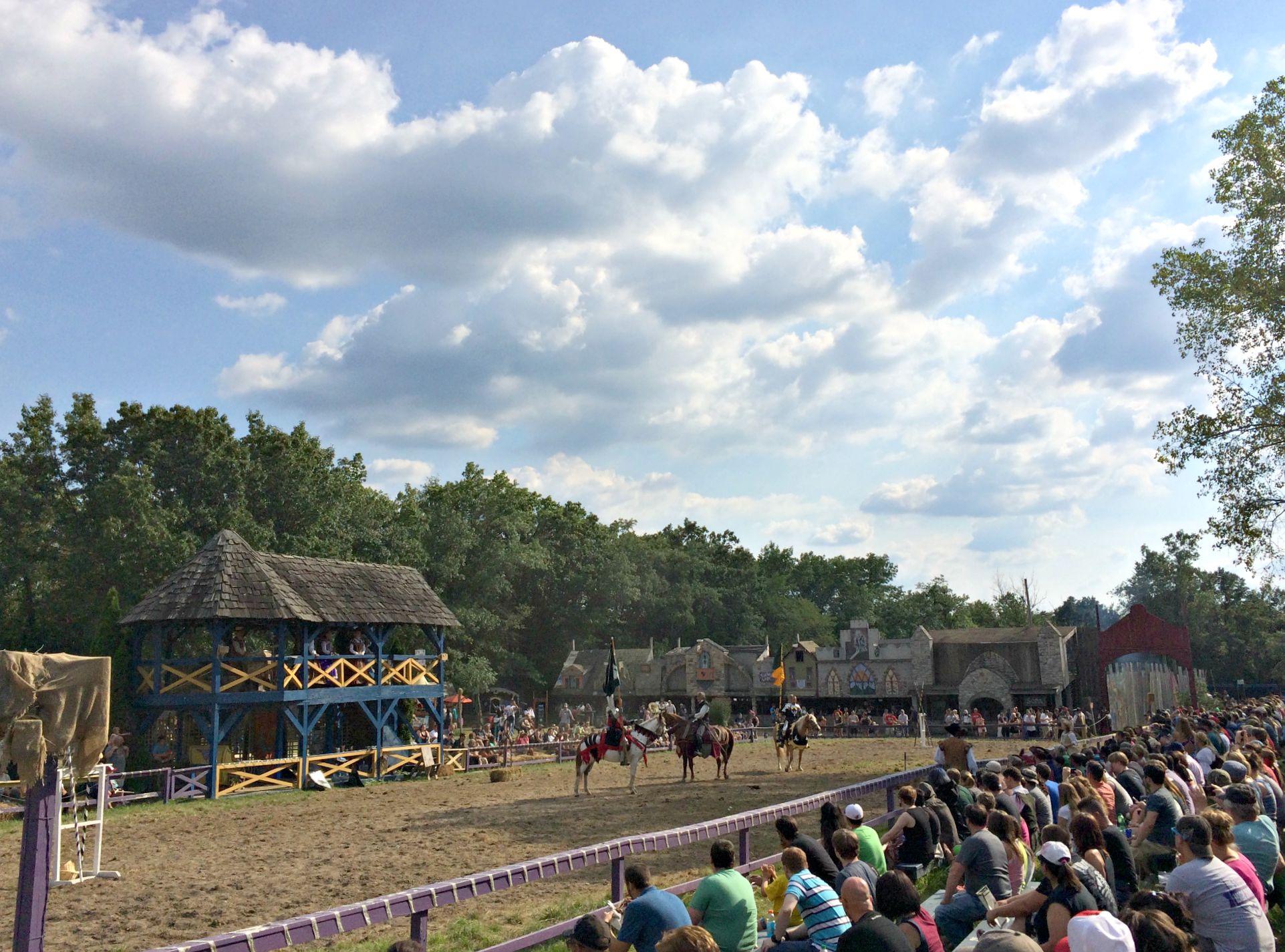 Renaissance Festival jousting