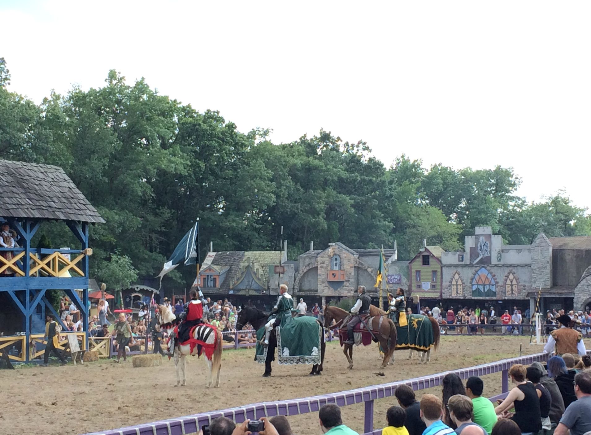 Renaissance Festival jousting show